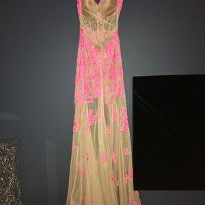Sherri Hill Dresses - Lace illusion dress - high-low